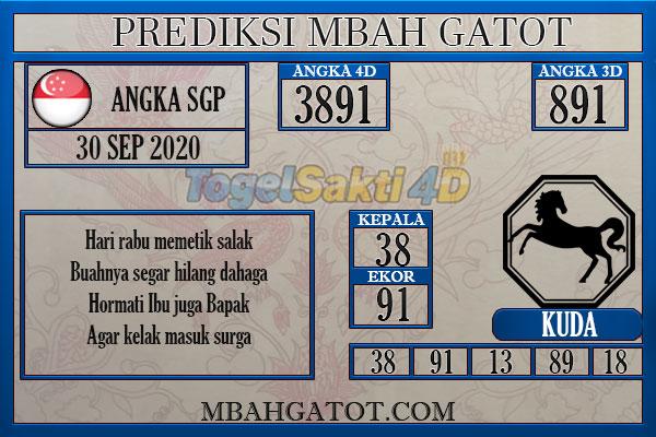 Prediksi SGP rabu 30 September 2020