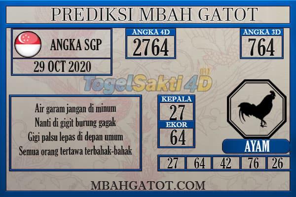 Prediksi SGP kamis 29 Oktober 2020