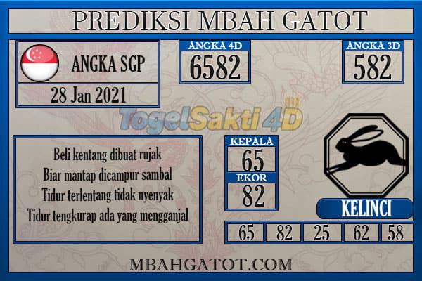 Prediksi SGP kamis 28 Januari 2021