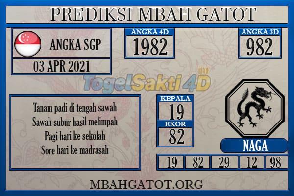 Prediksi SGP sabtu 03 April 2021