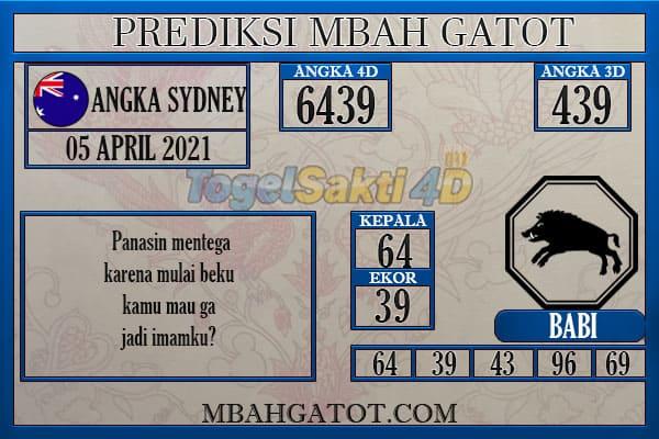 Prediksi Sydney Senin 05 April 2021
