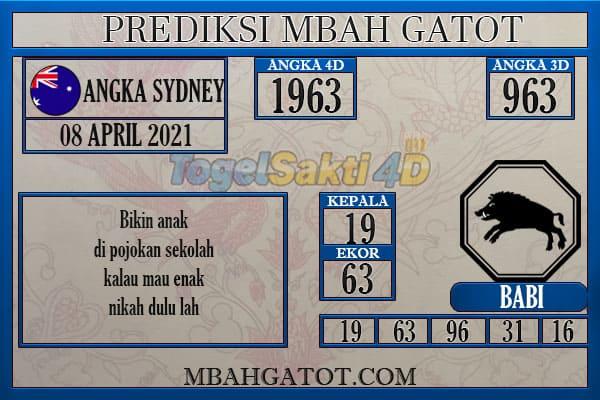Prediksi Sydney Kamis 08 April 2021